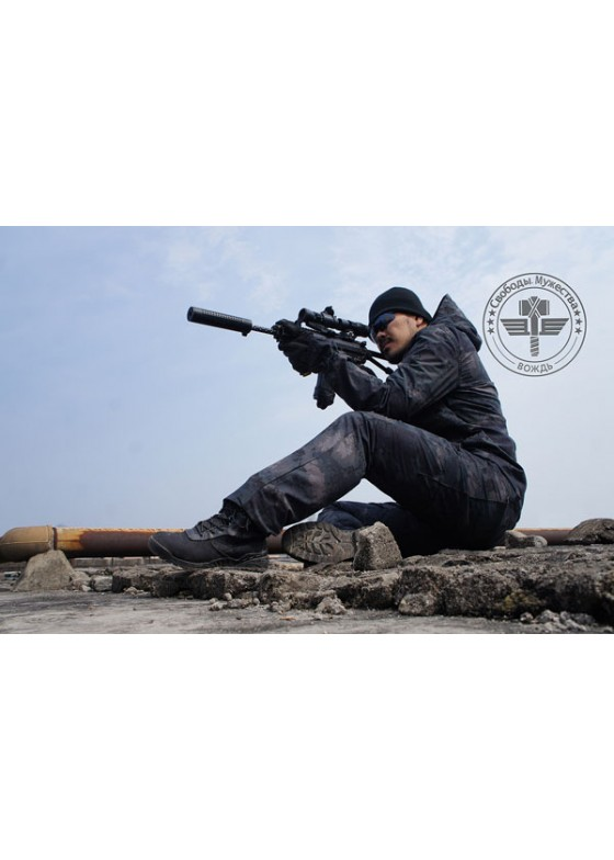 Factory price stripe Camo falcon shooting combat suit Tactical suit