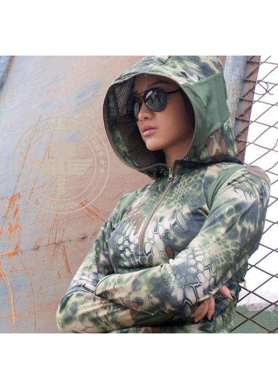 Outdoor kryptek camo women hoodie Tactical Hoodie
