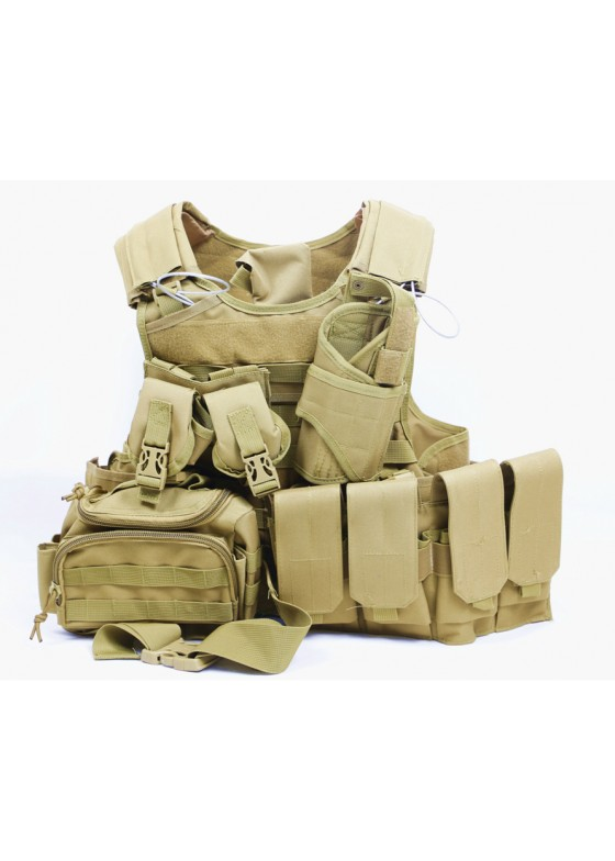 Airsoft 049 Tactical Vest Military Combat Vest With Pistol Holster