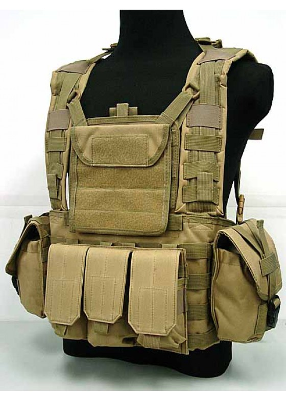 Airsoft Molle Canteen Hydration Combat RRV Vest & Tactical Water Bag Vest