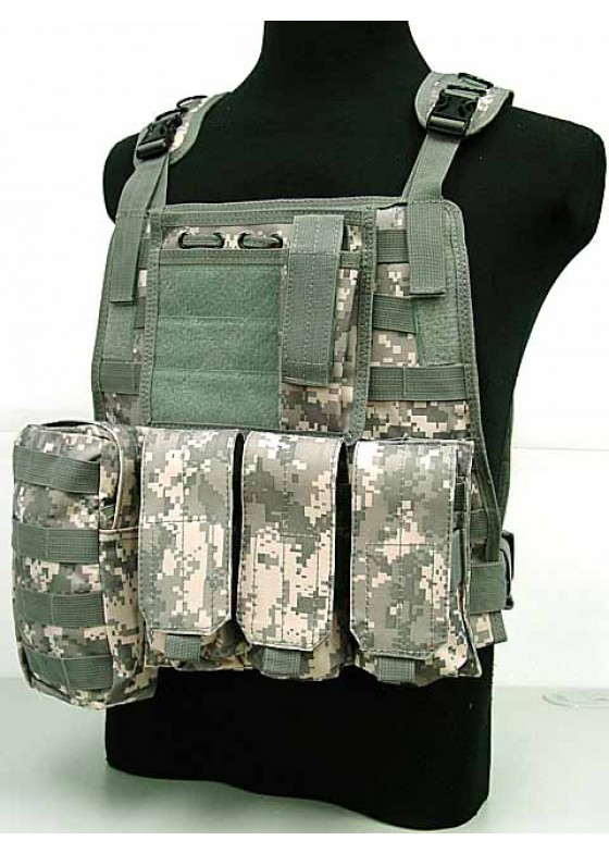 C2 Military Tactical Airsoft Vest Marine Assault Molle Plate Carrier Vest