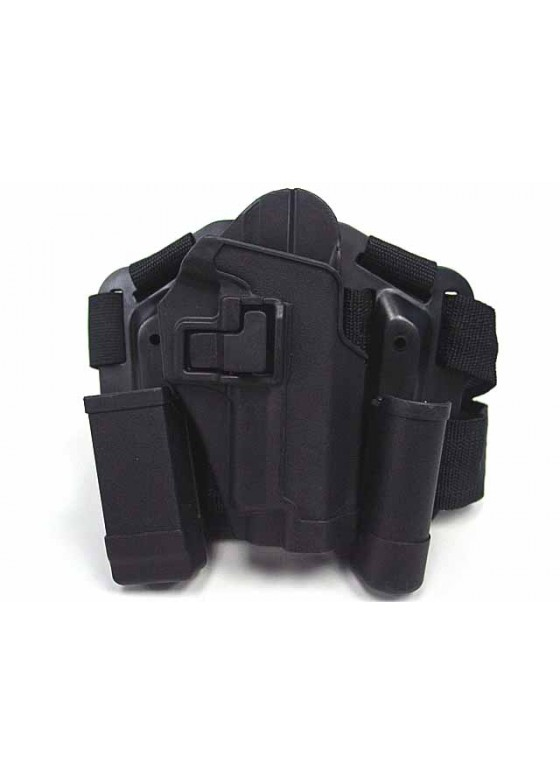 CQC SIG P220/P226 RH Drop Leg Holster With Flashlight Pouch Holster