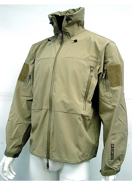Stealth Hoodie Sharkskin Soft Shell Waterproof Jacket TAN