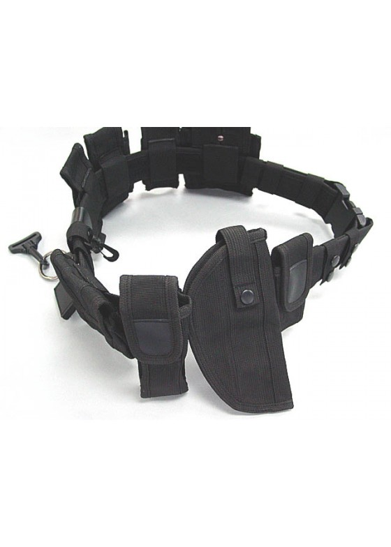 7 In One Modular Pouch Holder Police Security Duty Belt With Holster