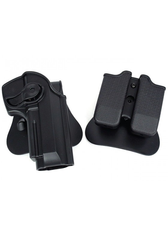 IMI Style Beretta M92/96 RH Pistol With Magazine Paddle Holster