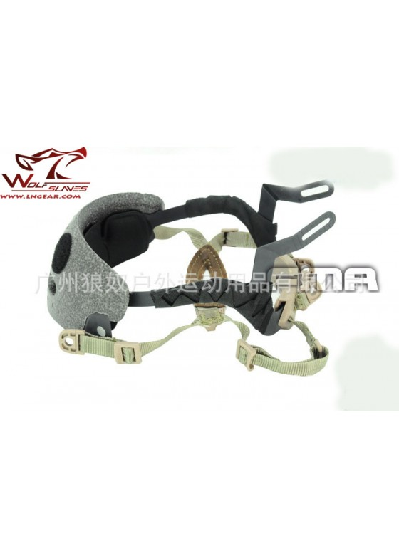 Wolf Slaves Paintball Combat FMA FAST Navy Helmet  Suspension System