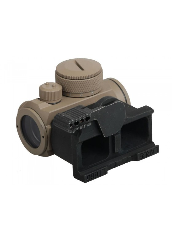Tactical RifleScope HY9135 Passive Red Dot Collimator Reflex Sight with Adapt base in Sand