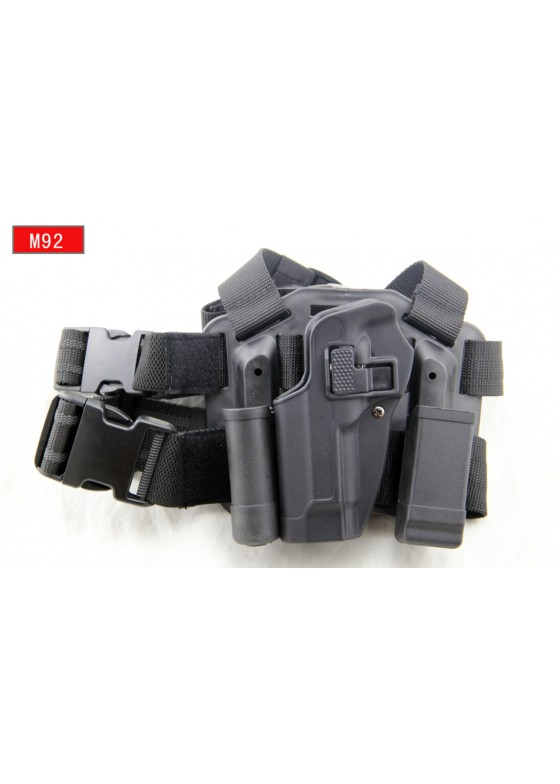 Military Gun Holster Blackhawk Drop Leg Holster For M92 Left Hand (Short Style)