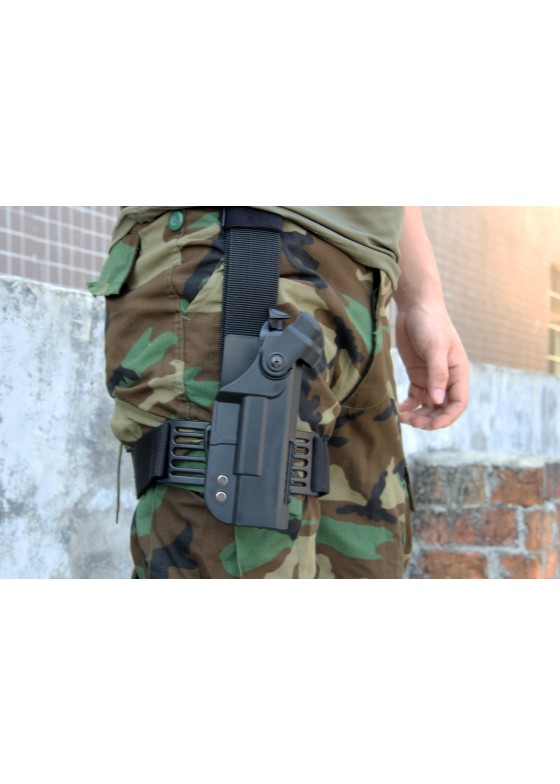 New Arrival Double Security Tactical Military Glock Leg holster With Adjustable Belt
