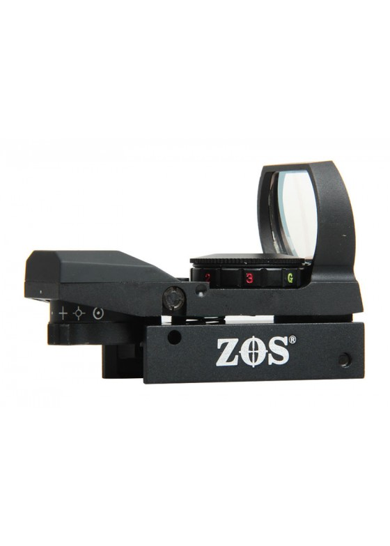 Tactical ZOS 1x22x33 Red Dot in Red 4 Reticle With Wide Window HY9035