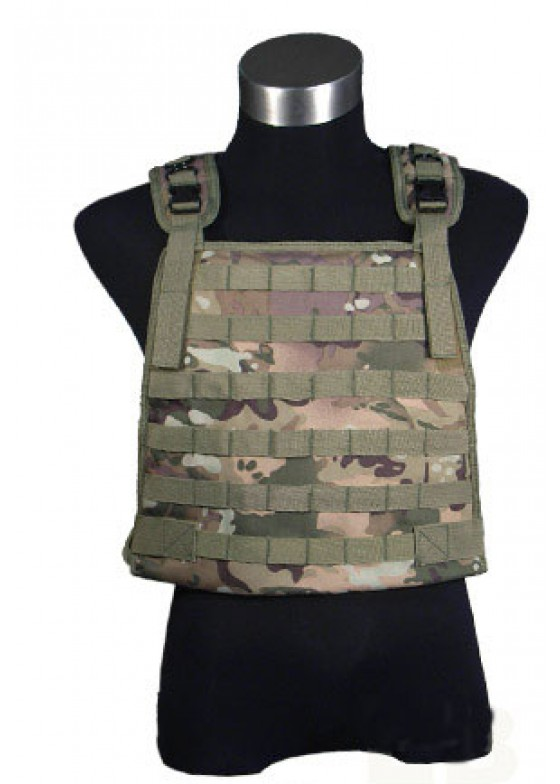 Multi Camo TRIKE Plate Carrier Vest With Mag Pouches