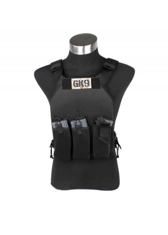 FO Plate Carrier Police Tactical Vest With 3 Pouches