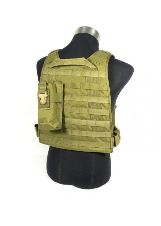 Tactical wolf slaves MBSS style Plate Carrier w/ 4 pouches combat vest