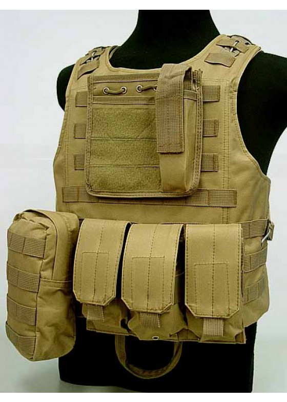 USMC Molle Combat Assault Plate Carrier Vest Amphibious Tactical Vest