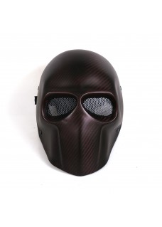 Paintball Colorful Carbon Fiber Face Mask Airsoft Wargame Mask