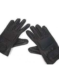 Army Full Finger Airsoft Supple Leather Combat Gloves