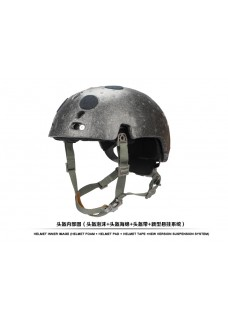 Airsoft Tactical Helmet Suspension System With Helmet FOAM Helmet PAD