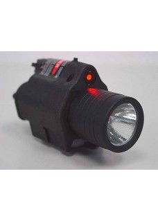 M6 Gun Flashlight QD LED Tactical Flashlight & Red Laser Sight