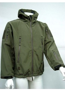 Stealth Hoodie Sharkskin Parka Soft Shell Waterproof Jacket Olive Drab