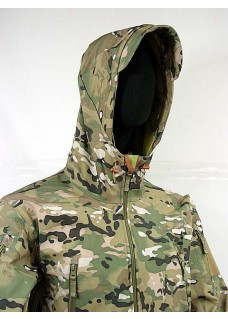 Stealth Hoodie Sharkskin Parka Soft Shell Waterproof Jacket Multi Camo