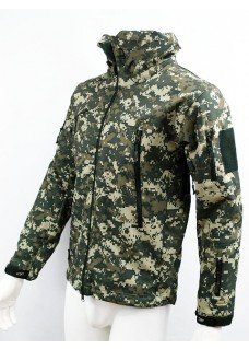 Stealth Hoodie Sharkskin Parka Soft Shell Waterproof Jacket Digital ACU Camo