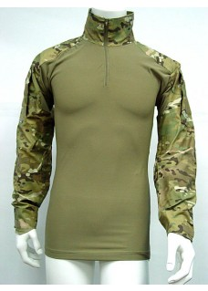 USMC Army Tactical Combat Shirt With Elbow Pads Multi Camo