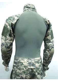 Combat Shirt & Pants With Elbow And Knee Pads Frog Suit Digital ACU Camo