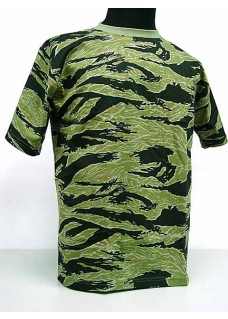 Fashion Camouflage Short Sleeve T-Shirt Tiger Stripe Camo