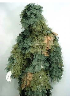 Wargame Hunting Airsoft Ghillie Suit Camo Woodland