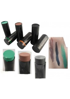 3 Color Tactical Face Camouflage Painting Oil Kit For Army