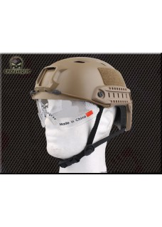 Tactical BJ Helmet  NVG Mount And Side Rail With Clear Visor For Military