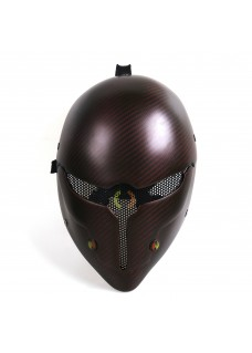 Grey Fox Face Mask Carbon Fiber Paintball Airsoft Tactical Mask