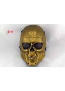 Paintball Tactical Airsoft Wire Mesh Terminator Skull Full Face Mask