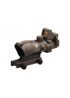 Tactical RifleScope Red Dot HY9176 ACOG SCOPE GL 4X32 1 with Red fiber and RMR