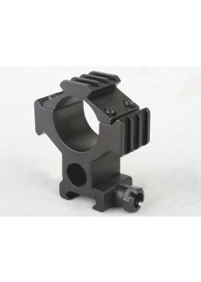 Tactical 5mm/30mm QD Scope Sight Mount Ring w/20mm Tri-Rail
