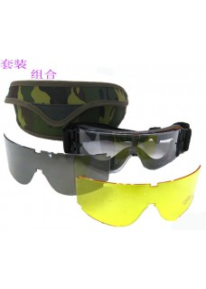 X800 Camouflage Case Military Eyewear Tactical Wargame Goggles Mountain Cycling Sunglasses