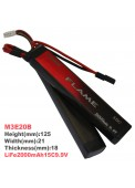 LiFe 2000mAh15C9.9V Iron phosphate-lithium battery(M3E20B)