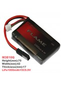 LiFe 1000mAh15C9.9V Iron phosphate-lithium battery(M3E10Q)