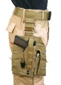 075 Molle Drop Leg Platform Panel With Pistol Holster