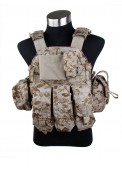 500D Nylon Airsoft  094 Tactical Vest AOR1