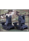 Tactical #71L Style Polymer Flip-Up Front & Rear Sight Set
