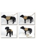 High Quality 1000D Nylon Tactical Dog Vest With Accessories Pouch