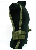 SWAT Tactical Shoulder Pistol Holster With Mag Pouch