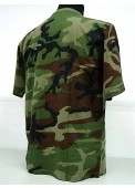 Camouflage Short Sleeve T-Shirt Woodland Camo
