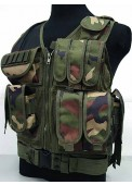 Tactical Vest Woodland Camo