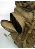 65L Combat Rucksack Camping Backpack-TAN