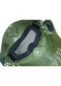 Full Face Airsoft Goggle Mesh Mask With Neck Protect
