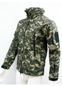 Sharkskin Parka Soft Shell Waterproof Jacket Digital ACU Camo