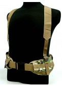 Tactical Molle Panel Platform Waist Belt Suspender