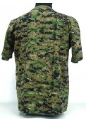 Camouflage Short Sleeve T-Shirt Digital Woodland Camo